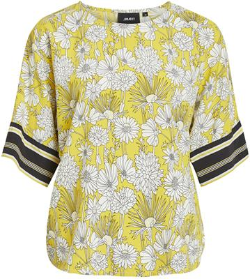 Objmargret 3/4 top Maize/Flower