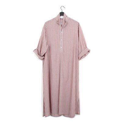 3b84016fe3 Cristaseya striped maxi shirt dress wooden brown blue stripes