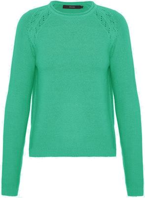 Vmno name pointelle ls o-neck blouse Holly green