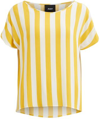 Objbay s/s urban top Maize/White
