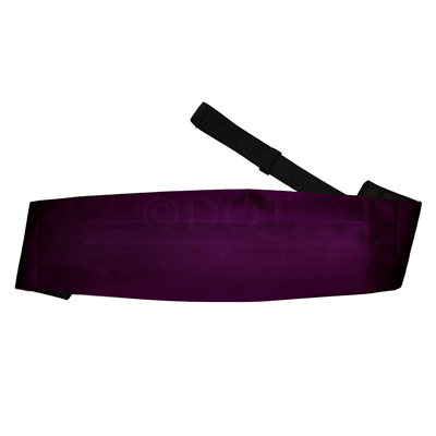 Uni satijnen cumberband purple