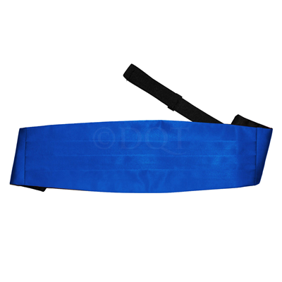 Uni satijnen cumber band royal blue