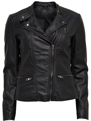 Onlfreya faux leather biker Black