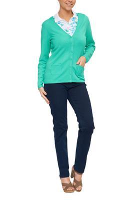 Donkerblauwe V Hals Trui Dames.Dames Truien Vesten Shop Online Miller Monroe