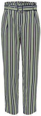 Onlrose hw paperbag pants Oil green/bright white