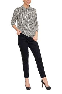 Zwart Overhemd Met Witte Stippen.Dames Blouses Tunieken Shop Online Miller Monroe