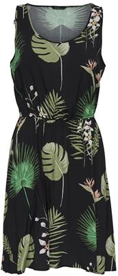 Onlflora sl dress Black/open leaf