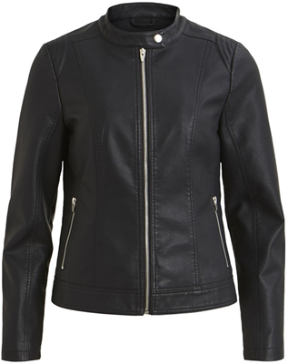 Vitaya faux leather jacket Black
