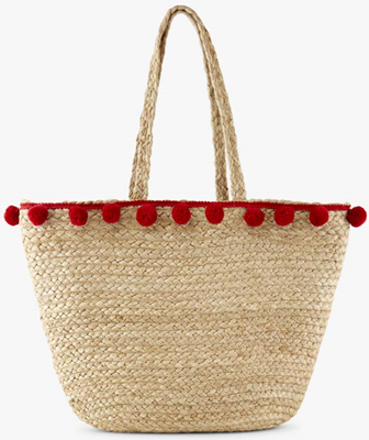 pcbecka straw bag high risk red