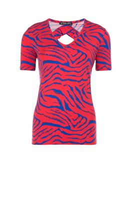 Top met zebradessin en cut-outdetail