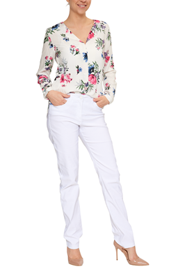 bfb1d9425609 B.Young Bluse Blumenprint Offwhite