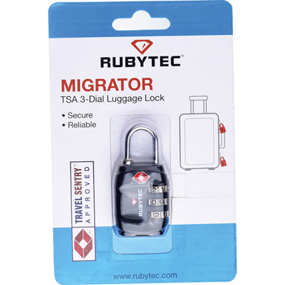 Rubytec Tsa 3 Dial Luggage Lock Slot