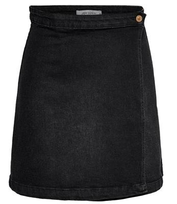 Jdyally wrap skirt dnm black denim