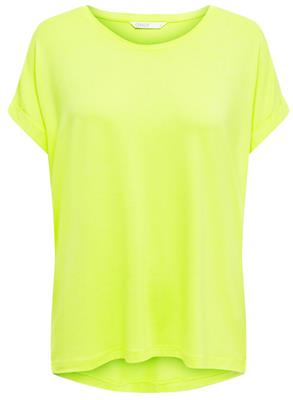 Onlmonster ss oneck top Neon yellow