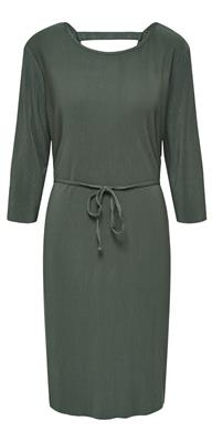 Jdyesmarilla 2/4 back detail dress Duck green