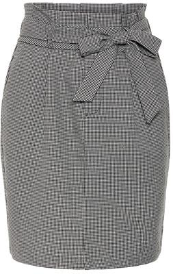 Vmeva hr paperbag short skirt color Black/houndstoot
