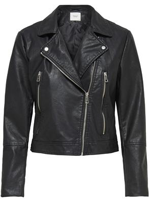 Jdyilde short faux leather jacket Black