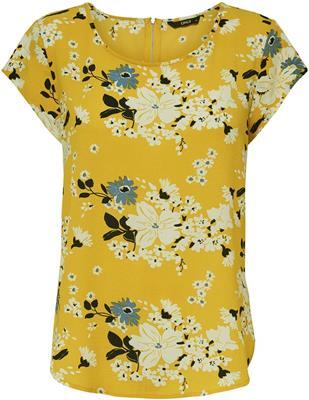 Onlvic ss aop top noos Chai tea/yellow flower