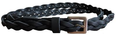 Rock and Rick braided belt Black