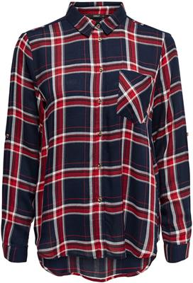 Onllondon ls check shirt noos Night sky/red