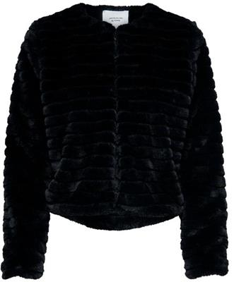 Jdyeven short fake fur jacket Black