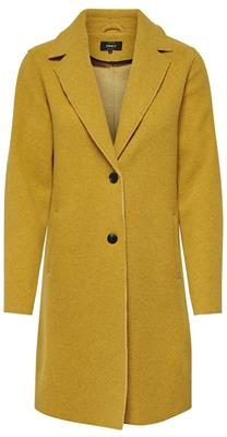 Onlcarrie bonded coat Golden yellow melange