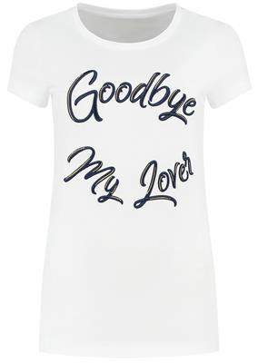 Nikkie goodbye t-shirt Optical white