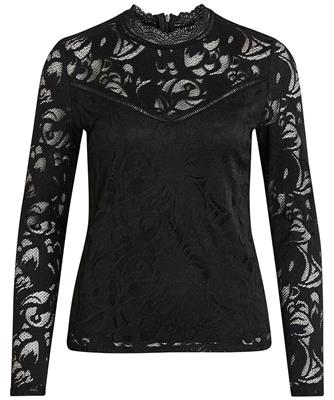 Vistasia l/s lace top-noos Black