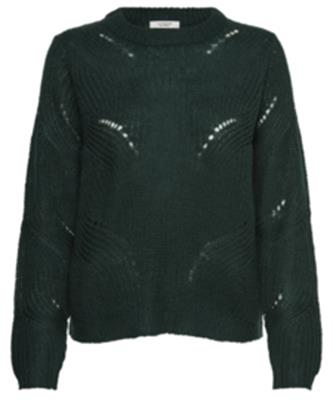 Jdydaisy l/s structure pullover knt noos Scarab