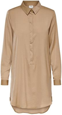 Jdytara l/s hi-low long shirt wvn Camel