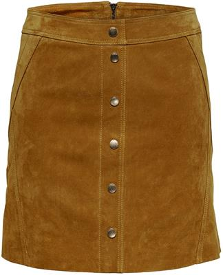 Onlyasmin suede skirt Honey ginger
