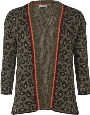 Geisha cardigan leopard with lurex Army comb