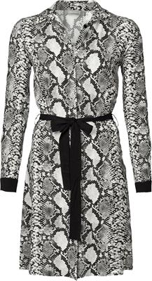 Geisha Dress bi-color snake with strap Black/white combi