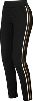 Geisha Jersey pants with tape Black/mustard