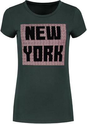 Nikkie new york tee Forest green