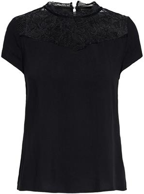 Onlfirst ss lace top noos wvn  Black