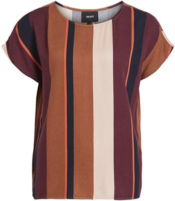 Objesme urban s/s top Brown patina/striped