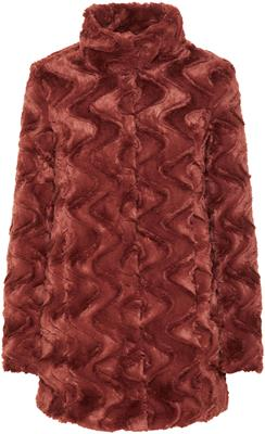 Vmcurl high neck faux fur jacket noos Mahogany