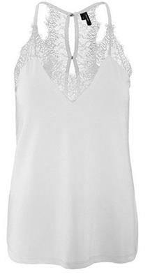 Vmmilla s/l lace top Snow white