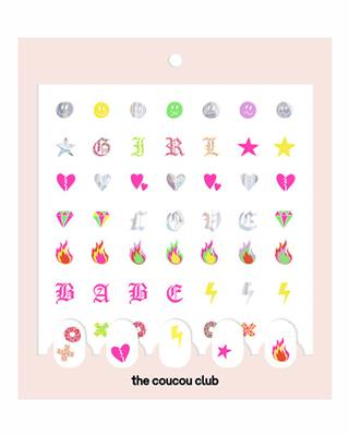 The Coucou Club - Coucou Nail Art: The LAKWERK Sheet - 2 st