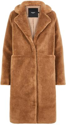 vmholly long teddy jacket Tobacco brown
