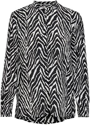 jdysnakey l/s placket shirt wvn white/black zebra