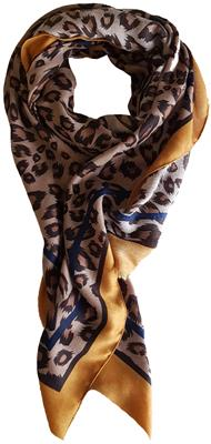 B-fashion shawl Oker/blauw