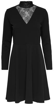 Jdykappa l/s high neck dress jrs Black/dtm lace