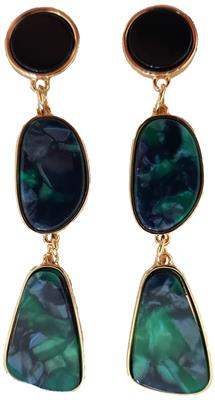 B-fashion earrings Green/gold