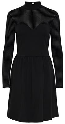 Onlniella l/s dress jrs Black