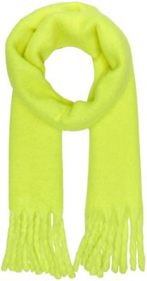 Onlemma solid heavy brushed woven scarf Safety Yellow