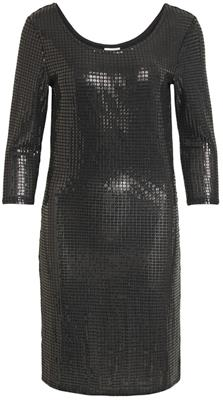 VIBEYLA 3/4 DRESS/TB BLACK LUREX