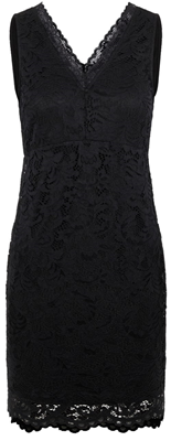 Vmdora sl lace short dress lcs Black