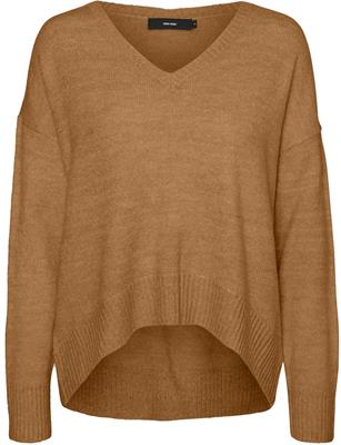 VMLUCKYDUARTE LS V-NECK BLOUSE Tabacco Brown